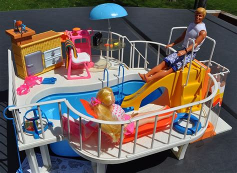barbie doll house with swimming pool vintage 1980 mattel barbie dream house swimming pool w