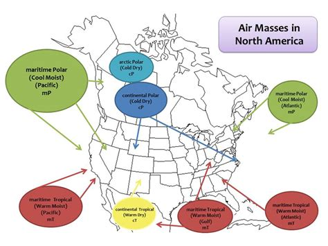 america air mass map tonya s daily weather 2013 data analysis