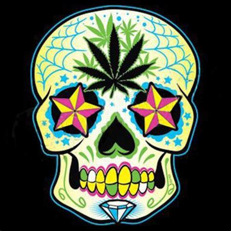 skull pot leaf tattoo designs 28 best new school skull and pot leaf designs