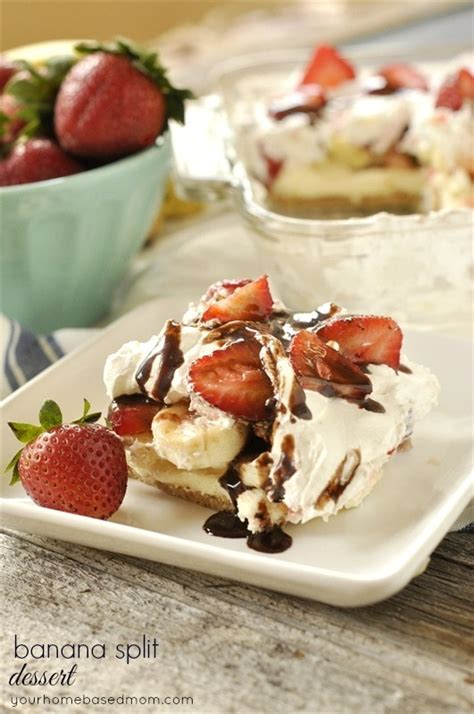 Banana Split Desert For The No Bake Banana Split Dessert Recipe Your Homebased