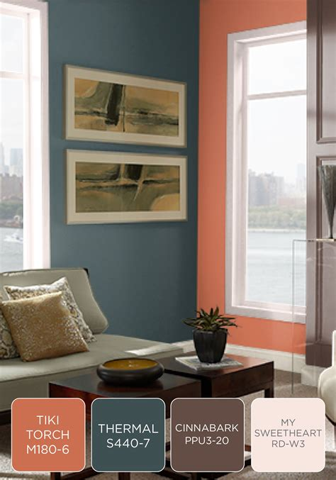 coral blue brown  white color combination