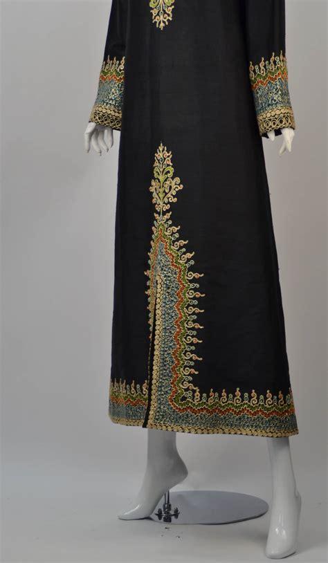 Handmade Kaftans - handmade mourjana silk embroidered kaftan at 1stdibs