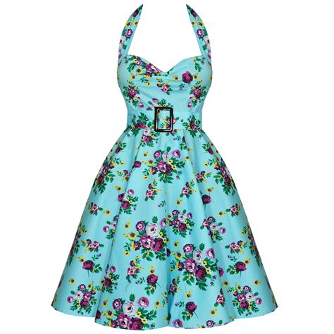Hell Bunny May Day Blue Floral 50s Vtg Swing Prom Dress Ebay