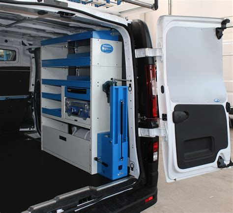 Workbench Light Opel Vivaro 2014 Conversion With Shelving On Both Sides