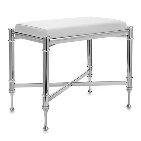 chrome vanity bench buy taymor chrome vanity bench from bed bath beyond