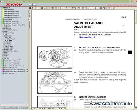 car repair manuals download 2006 toyota yaris electronic valve timing service manual ac repair manual 2005 toyota echo toyota yaris verso echo verso repair