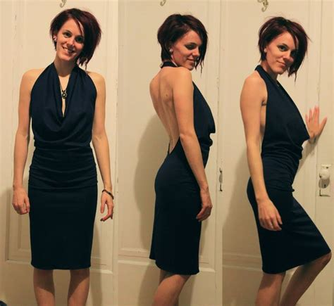 backless dress diy how to make your own backless cowl neck dress this