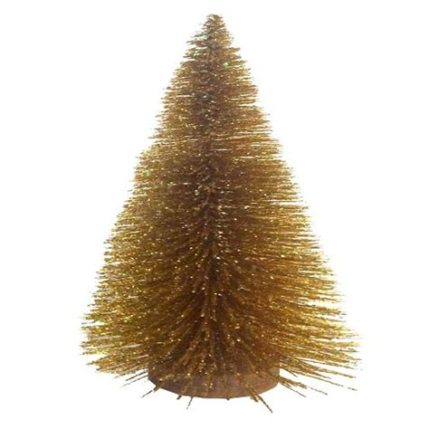 gold base bittle brush trees bottle brush tree with wood base gold 15 quot thr target