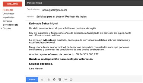 email format in french write an email in spanish like a native essential vocab