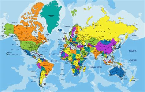world color pin world map color on
