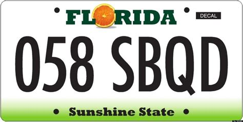 license plate light florida florida s license plates state asks drivers to vote
