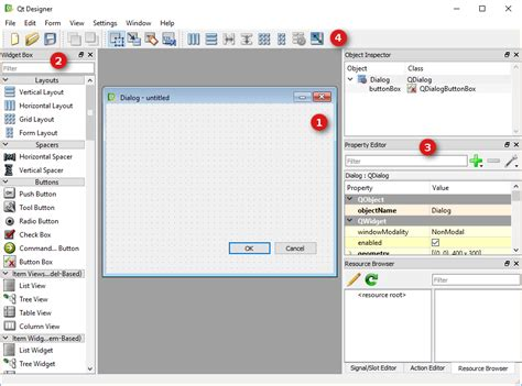 qt tutorial dialog box qt designer boundless desktop 1 0 0 documentation