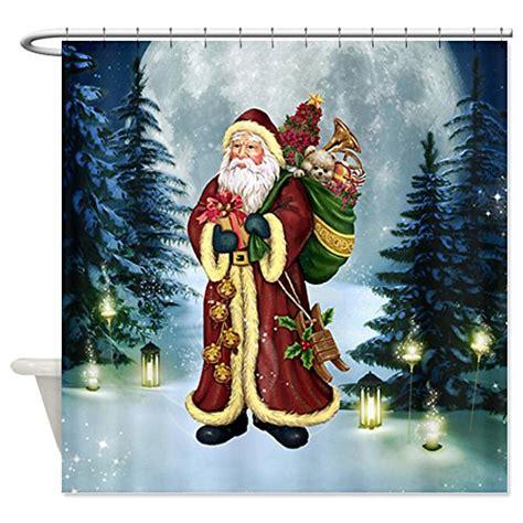 santa shower curtain set santa shower curtains webnuggetz com