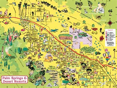 palm springs map maps update palm springs tourist attractions map map 1216774 palm springs city california