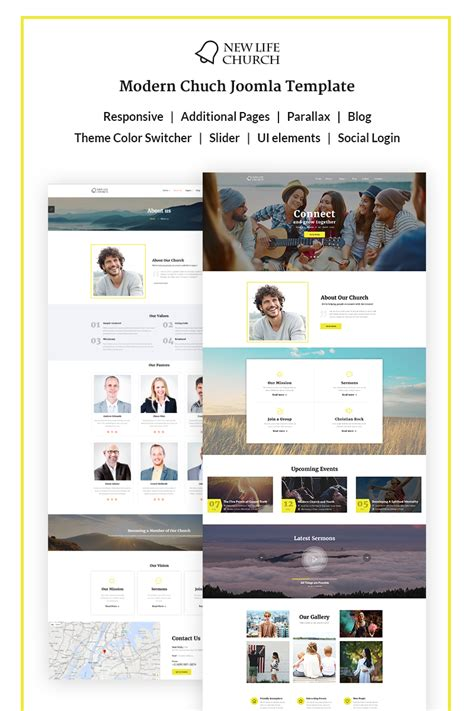 joomla church template new church joomla template 67602