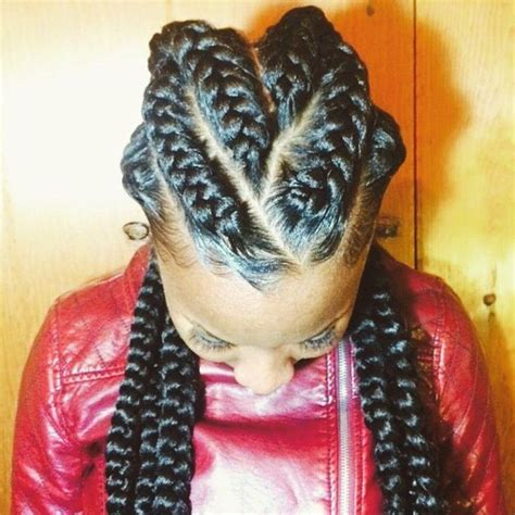 Big Braid Hairstyles by Big Cornrow Braids Wallpaper
