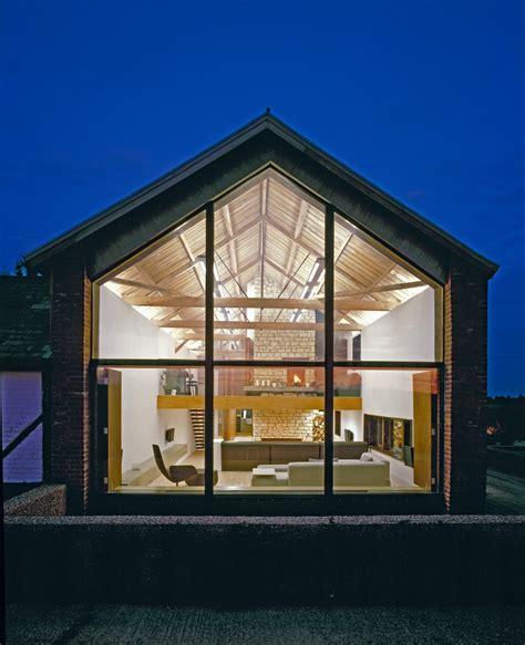 Gable windows exterior transitional with windows glass door large windows