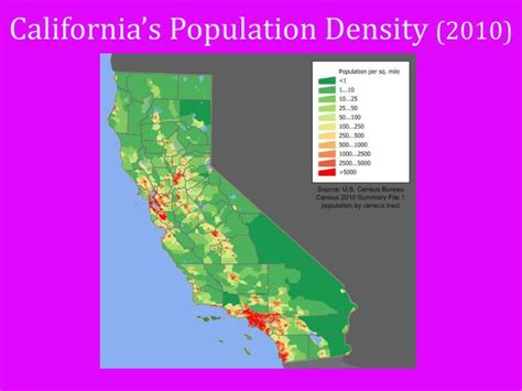 california map population ppt where do live powerpoint presentation id