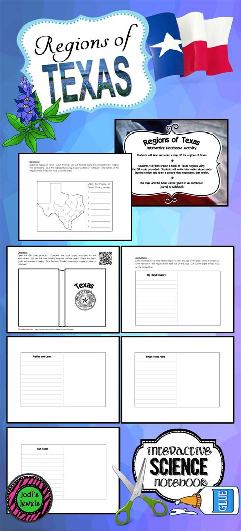 Regions Of Texas Interactive Notebook Activity My