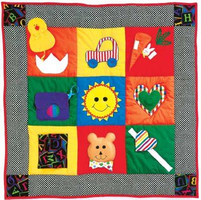 Baby Activity Quilt by Baby S Busy Day Quilt Pattern Howstuffworks