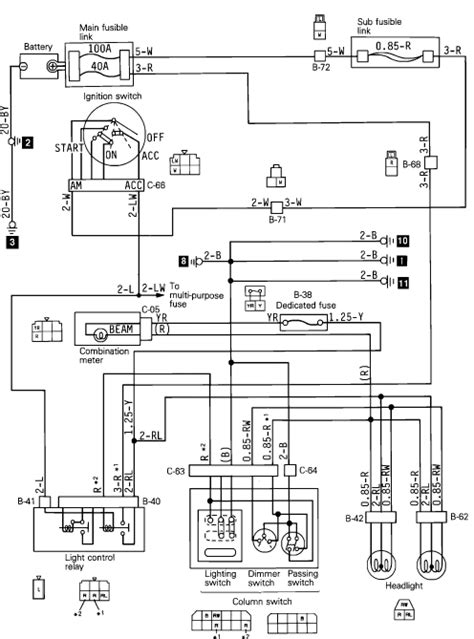 1989 mitsubishi montero low beams high beams work ls