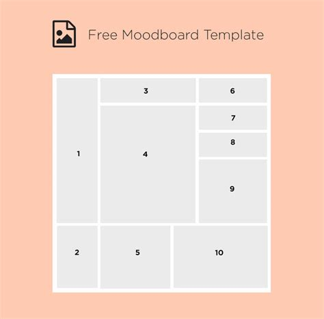 Template For 15 free moodboard templates for designyep