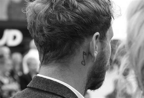 music note tattoo behind ear simplistic note the ear creativefan