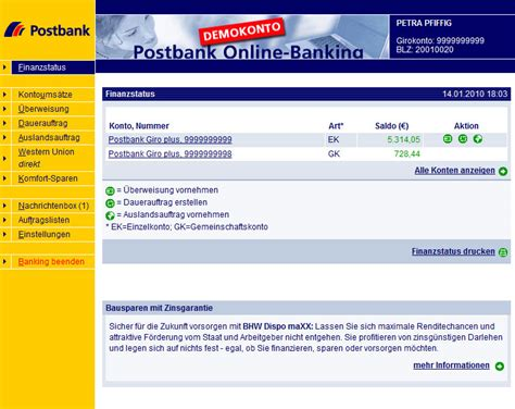 postbank bank banking postban was sind etf fonds