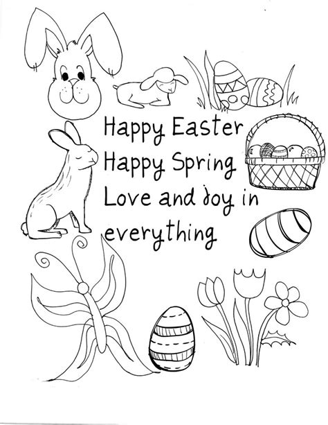 happy easter coloring pages happy easter coloring pages best coloring pages for