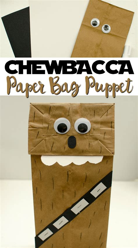 And Craft Paper Bags - chewbacca paper bag puppet a grande