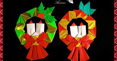 Origami Mistletoe - origami maniacs 2 wreaths dos lindas