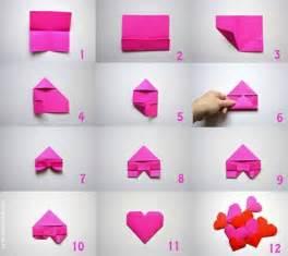 como hacer un corazon de papel facil san valentin corazones en origami paso a paso manualidades ni 241 os