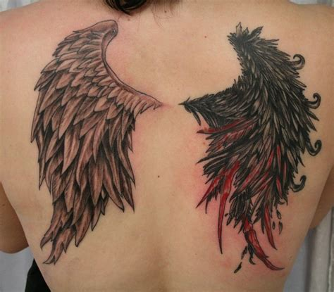 tattoo of angel wings wing tattoos for men