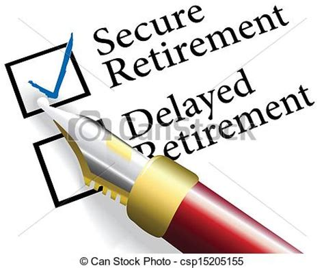 Small Retirement Home Plans by Clipart Vector Of Choose Secure Retirement Investment