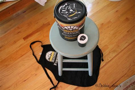 black salvage paint how to update a thrift store stool with farmhouse style debbiedoos