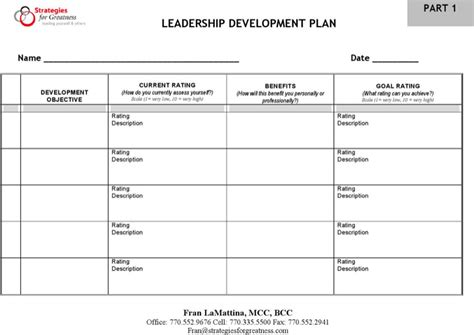 development plan templates download free premium