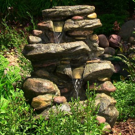 water fountain backyard water fountain stone water falls with led light outdoor