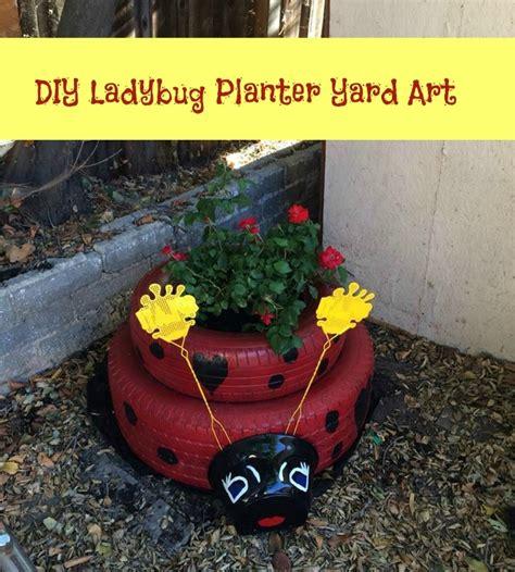 Homemade Planters Diy Ladybug Planter Yard Art
