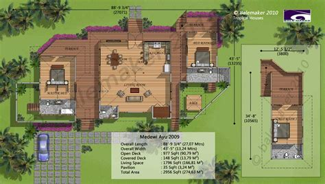 bali style house floor plans medewi ayu