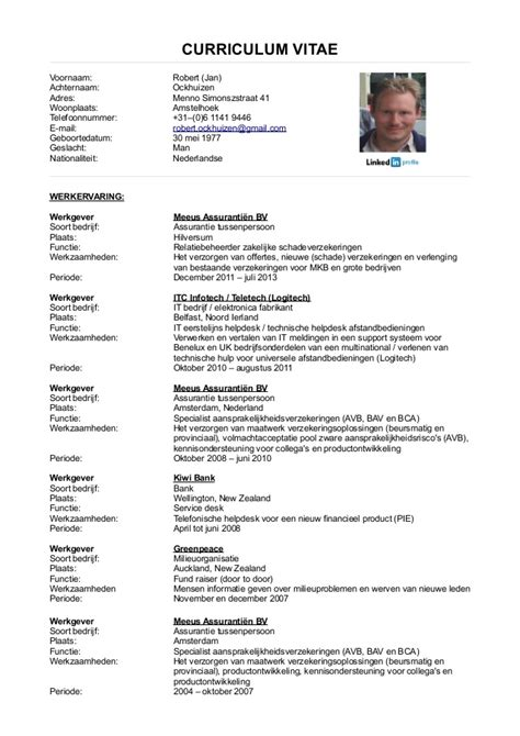 Cv Template Nederlands Voorbeeld Sollicitatiebrief Curriculum Vitae 25 Jpg Quotes