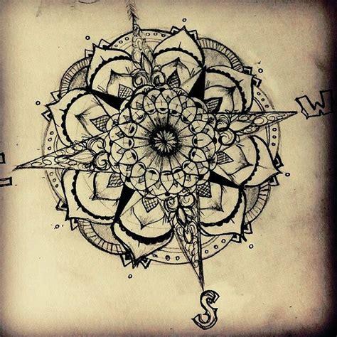 About mandala compass tattoo on pinterest mandala compass compass