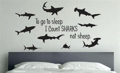 shark room decor    sleep  count sharks  sheep