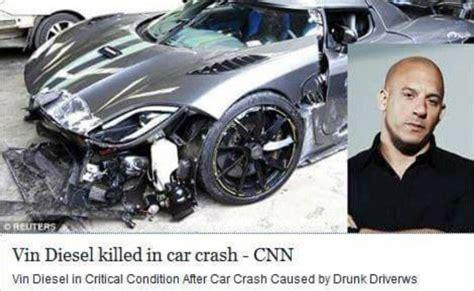 Actor Garrisons Suv Wrecks 1 Dead by Vin Diesel Dead 2016 Killed In Car Crash Dipbuz