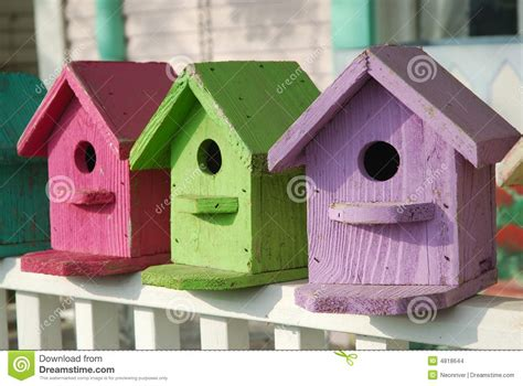 colorful birdhouses stock images image 4818644