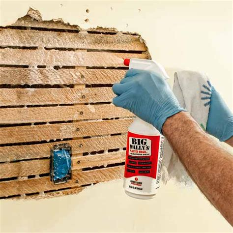 step by step how to remove repair lath and plaster ceiling wet the substrate how to repair plaster this old house