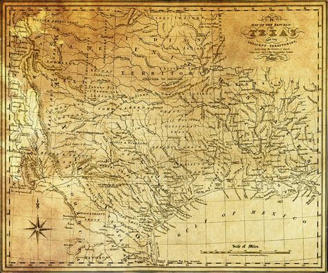 republic of texas map 1841 republic of texas map digital by daniel hagerman