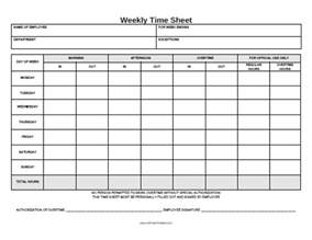 Time Cards Template Free Weekly Time Sheet Printable Images