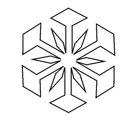 simple snowflake template free snowflake templates 17 free printable sle