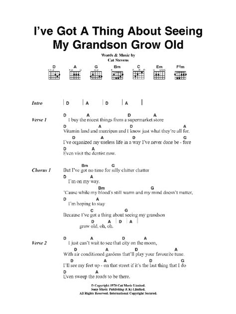 tutorial guitar chords grow old with you i ve got a thing about seeing my grandson grow old sheet