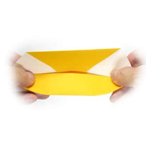 Canoe Origami - how to make an origami boat canoe page 9